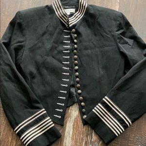 Karen Kane military style short blazer jacket